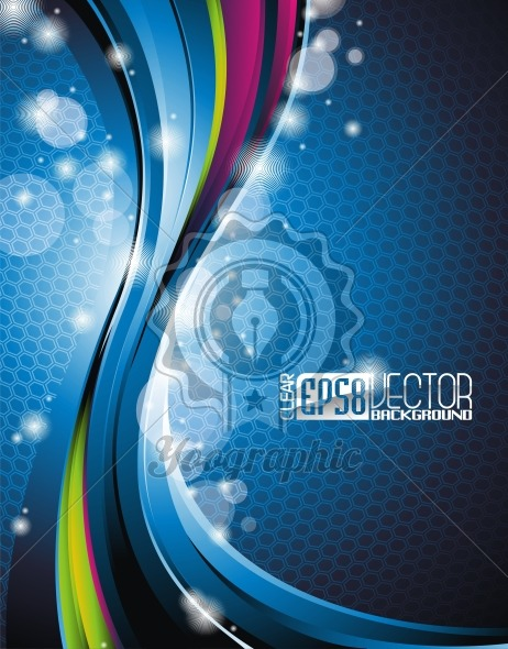 Abstract wave vector background. - Royalty Free Vector Illustration
