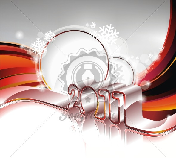 Vector Happy New Year 2011 design - Royalty Free Vector Illustration