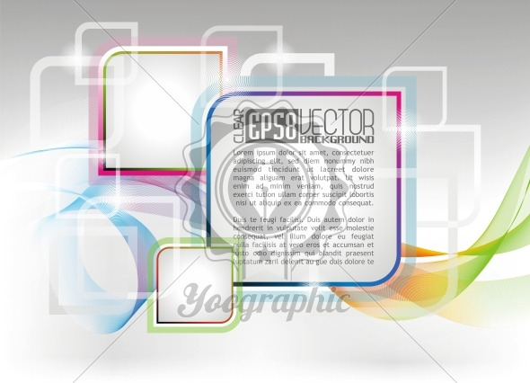 Vector coloures design background - Royalty Free Vector Illustration