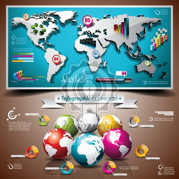 Vector design set of infographic elements world map and information vector design set of infographic elements world map and information graphics on mobile phone eps 10 illustration royalty free vector illustration gumiabroncs Gallery