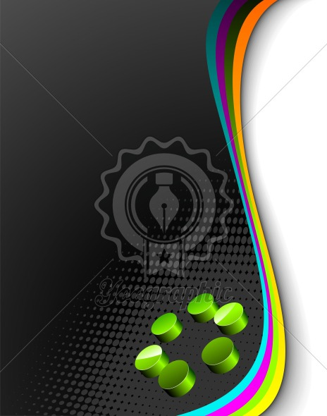 Vector background with abtrsct 3d circle element. - Royalty Free Vector Illustration