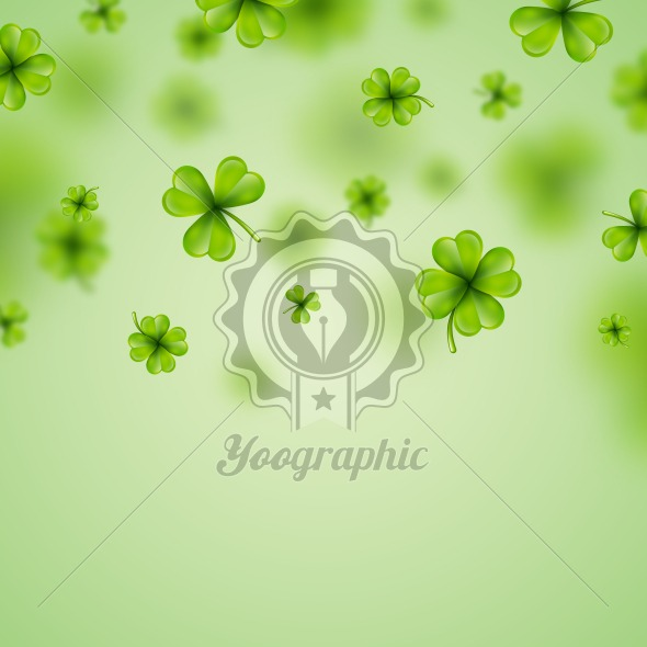 Saint Patricks Day Background Design With Falling Clovers