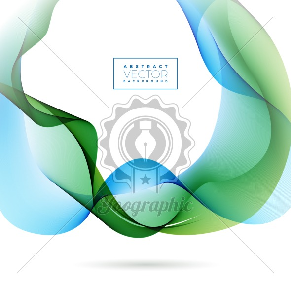 Abstract Wave Design on White Background. Vector Illustration. - Royalty Free Vector Illustration