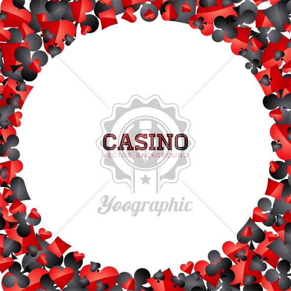Casino playing card symbols on white background. Vector Gambling isolated floating design element. - Royalty Free Vector Illustration